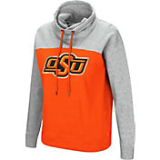Colosseum Women's Oklahoma State Cowboys Orange/Grey The Talk Funnel-Neck Pullover
