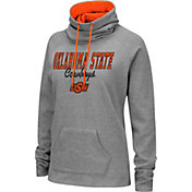 Colosseum Women's Oklahoma State Cowboys Grey Funnel-Neck Pullover Sweatshirt