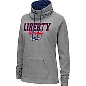 Colosseum Women's Liberty Flames Grey Funnel-Neck Pullover Sweatshirt