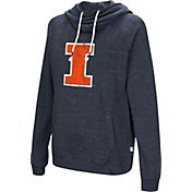 Colosseum Women's Illinois Fighting Illini Blue I'll Go With You Pullover Hoodie