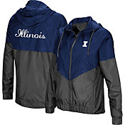 Colosseum Women's Illinois Fighting Illini Blue/Grey First Class Windbreaker Jacket