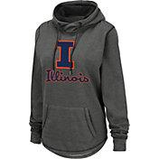 Colosseum Women's Illinois Fighting Illini Grey Pullover Hoodie
