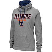 Colosseum Women's Illinois Fighting Illini Grey Funnel-Neck Pullover Sweatshirt