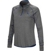 Colosseum Women's Ole Miss Rebels Grey Shark Quarter-Zip Shirt