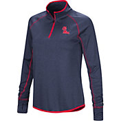 Colosseum Women's Ole Miss Rebels Blue Shark Quarter-Zip Shirt