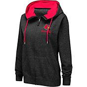 Colosseum Women's Louisville Cardinals Full-Zip Black Hoodie