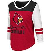 Colosseum Women's Louisville Cardinals Cardinal Red ¾ Sleeve Raglan T-Shirt