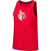Colosseum Women's Louisville Cardinals Cardinal Red Bet On Me Muscle Tank Top