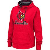 Colosseum Women's Louisville Cardinals Cardinal Red Pullover Hoodie