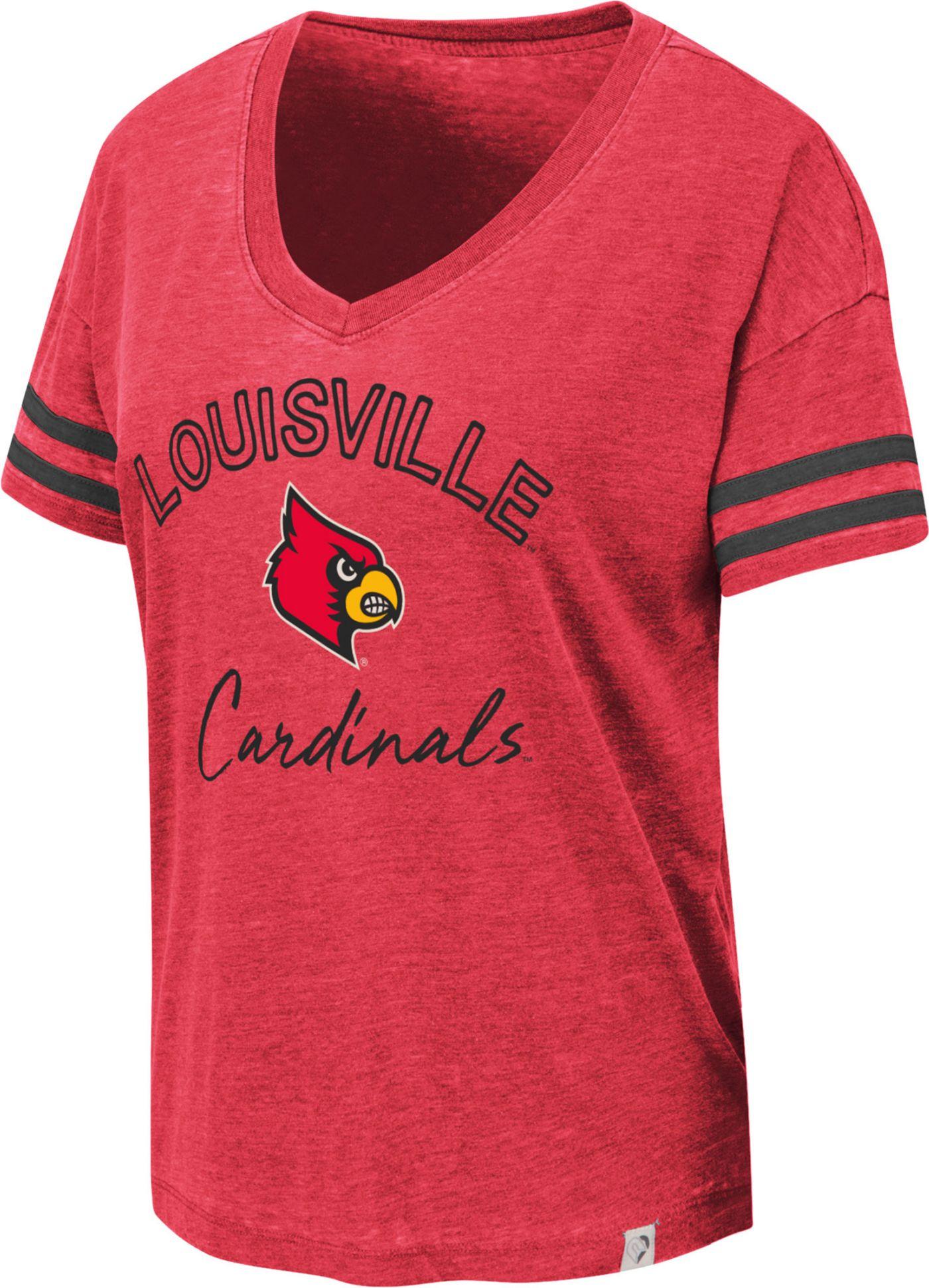 Colosseum Women's Louisville Cardinals Cardinal Red Savona V-Neck T-Shirt