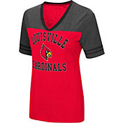 Colosseum Women's Louisville Cardinals Cardinal Red/Grey The Whole Package T-Shirt