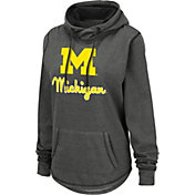 Colosseum Women's Michigan Wolverines Grey Pullover Hoodie