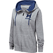 Colosseum Women's Michigan Wolverines Grey Full-Zip Hoodie