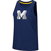 Colosseum Women's Michigan Wolverines Blue Bet On Me Muscle Tank Top