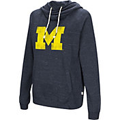 Colosseum Women's Michigan Wolverines Blue I'll Go With You Pullover Hoodie