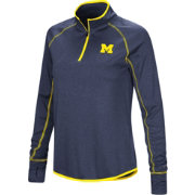 Colosseum Women's Michigan Wolverines Blue Shark Quarter-Zip Shirt