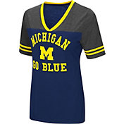 Colosseum Women's Michigan Wolverines Blue/Gey The Whole Package T-Shirt