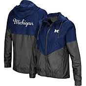 Colosseum Women's Michigan Wolverines Blue/Grey First Class Windbreaker Jacket