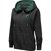 Colosseum Women's Michigan State Spartans Full-Zip Black Hoodie