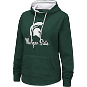 Colosseum Women's Michigan State Spartans Green Funnel-Neck Pullover Sweatshirt