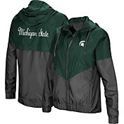 Colosseum Women's Michigan State Spartans Green/Grey First Class Windbreaker Jacket