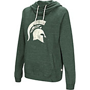 Colosseum Women's Michigan State Spartans Green I'll Go With You Pullover Hoodie