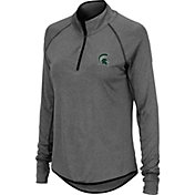 Colosseum Women's Michigan State Spartans Grey Quarter-Zip Shirt