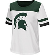 Colosseum Women's Michigan State Spartans Show Me The Money White T-Shirt