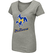 Colosseum Women's McNeese State Cowboys Grey Dual Blend V-Neck T-Shirt