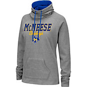 Colosseum Women's McNeese State Cowboys Grey Funnel-Neck Pullover Sweatshirt