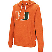 Colosseum Women's Miami Hurricanes Orange I'll Go With You Pullover Hoodie