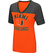 Colosseum Women's Miami Hurricanes Orange/Grey The Whole Package T-Shirt