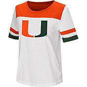 Colosseum Women's Miami Hurricanes Show Me The Money White T-Shirt