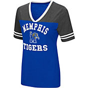Colosseum Women's Memphis Tigers Blue/Grey The Whole Package T-Shirt