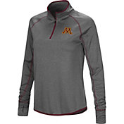 Colosseum Women's Minnesota Golden Gophers Grey Shark Quarter-Zip Shirt