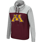 Colosseum Women's Minnesota Golden Gophers Maroon/Grey The Talk Funnel-Neck Pullover
