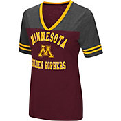 Colosseum Women's Minnesota Golden Gophers Maroon/Grey The Whole Package T-Shirt