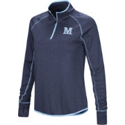 Colosseum Women's Maine Black Bears Blue Shark Quarter-Zip Shirt