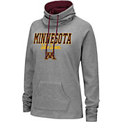 Colosseum Women's Minnesota Golden Gophers Grey Funnel-Neck Pullover Sweatshirt