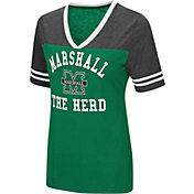 Colosseum Women's Marshall Thundering Herd Green/Grey The Whole Package T-Shirt