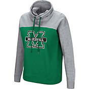 Colosseum Women's Marshall Thundering Herd Green/Grey The Talk Funnel-Neck Pullover