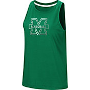 Colosseum Women's Marshall Thundering Herd Green Bet On Me Muscle Tank Top