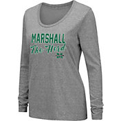 Colosseum Women's Marshall Thundering Herd Grey Tri-Blend Long Sleeve T-Shirt