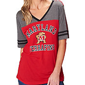 Colosseum Women's Maryland Terrapins Red/Grey The Whole Package T-Shirt