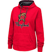 Colosseum Women's Maryland Terrapins Red Pullover Hoodie