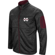 Colosseum Men's Mississippi State Bulldogs Glacier Full-Zip Black Jacket