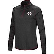 Colosseum Women's Mississippi State Bulldogs Shark Quarter-Zip Black Shirt