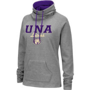 Colosseum Women's North Alabama  Lions Grey Funnel-Neck Pullover Sweatshirt