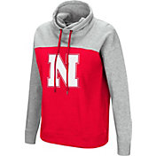 Colosseum Women's Nebraska Cornhuskers Scarlet/Grey The Talk Funnel-Neck Pullover