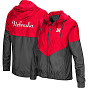 Colosseum Women's Nebraska Cornhuskers Scarlet/Grey First Class Windbreaker Jacket